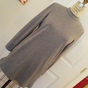 J. Jill Pure Jill heather grey knit tunic